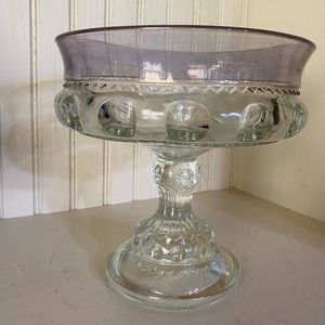 Indiana Glass Kings Crown clear compote